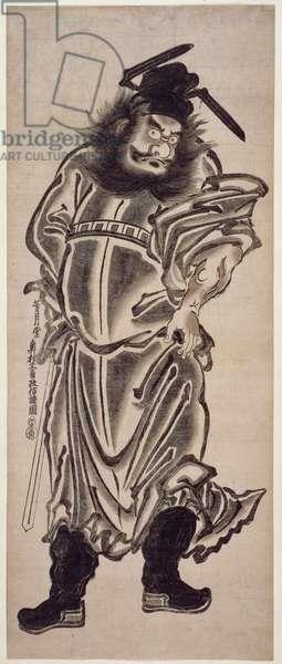 Shoki, the Demon Queller, c.1745 (woodblock print)