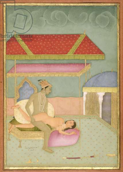 The private pleasure of Prince Mohammad Shuja, son of Shah Jahan by Hunhar, Bikaner, Rajasthan, Rajput School, c.1678-98, (gouache on paper)