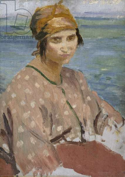 Dorelia Wearing a Turban, c.1912 (oil on panel)