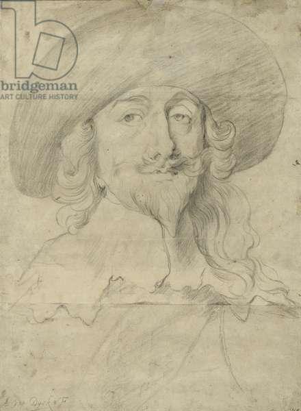Portrait of Charles I (chalk on paper)