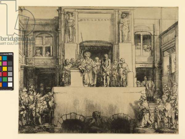 Christ Presented to the People, 1655 (drypoint printed on paper)