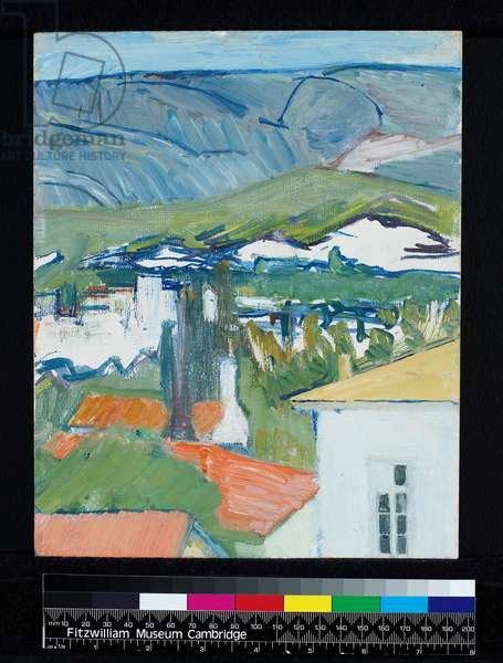 Athens, before 1979 (oil on millboard)