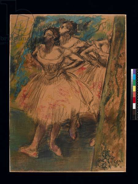 Dancer in the Wing, c.1905 (black chalk & pastel on paper)