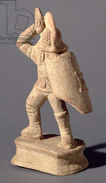 Gladiator wearing Samnite Armour, 1st or 2nd century AD (clay)