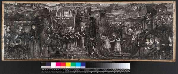 Buondelmonte's Wedding, 1859 (ink & wash on vellum)