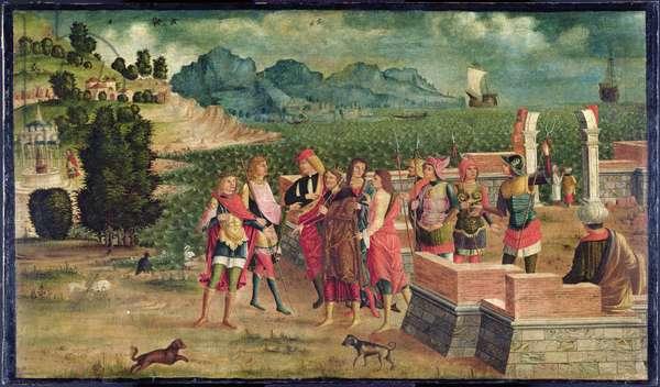 Apollo and Poseidon Come to Assist Laomedon, c.1500 (oil on canvas)