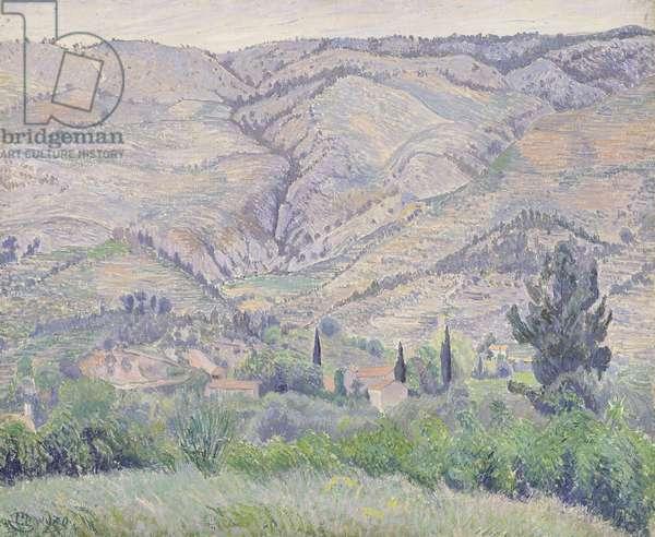 Le Ragas, near Toulon, c.1930 (oil on canvas)
