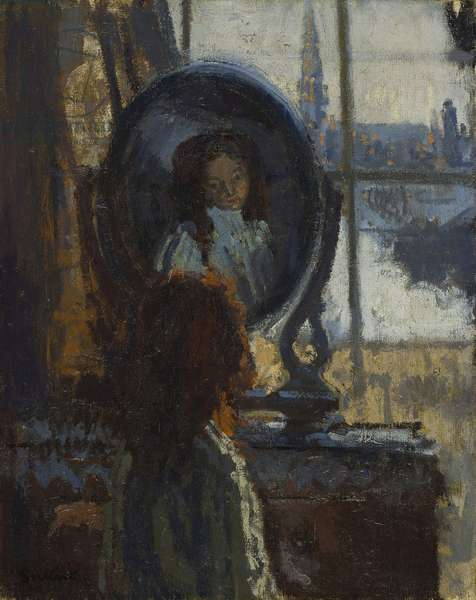 Girl at a looking-glass, little Rachel, 1907 (oil on canvas)
