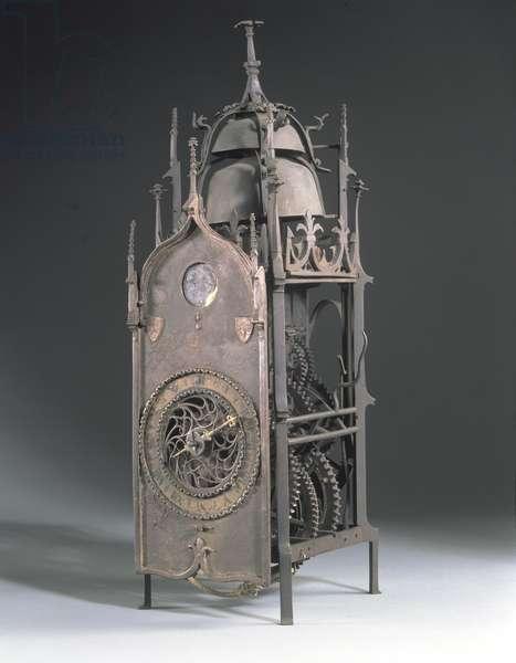 'Gothic' bracket clock, probably German, c.1550 (iron)