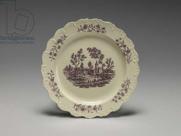 Plate, Wedgwood Factory, Staffordshire (lead-glazed earthenware)