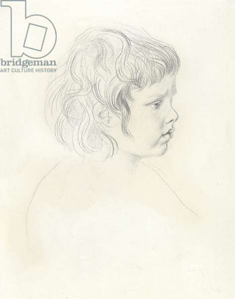 Profile head of David as a child, c.1904 (graphite on paper)