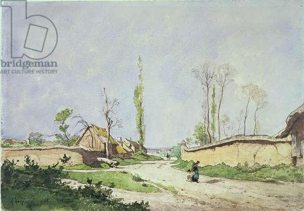 No.1534 A Village Road, Oiseme, 1888 (w/c on paper)