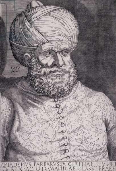 Barbarossa (Khayr ad-Din) (d.1546) 1535 (engraving)