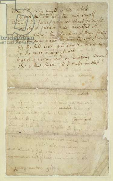 f.2v Ode to a Nightingale, Poem by John Keats (1795-1821) page:2 - verso, 1819 (ink on paper)