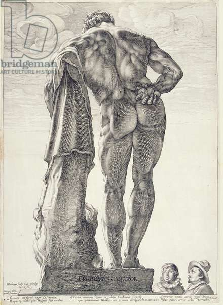 The Farnese Hercules, 1592 (engraving)