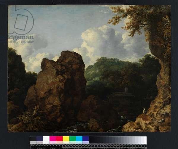 Norwegian landscape, 1656 (oil on panel)