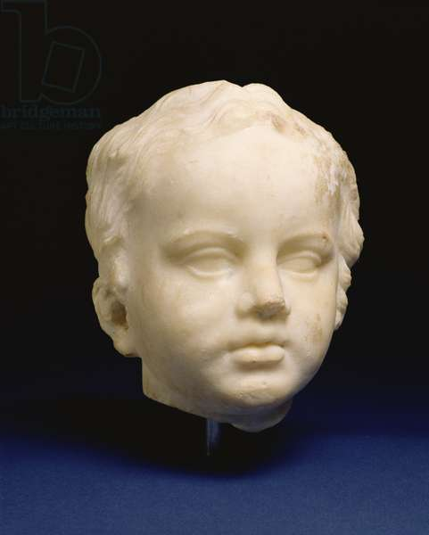 Head of a Young Girl, Greek, c.330 BC (marble)