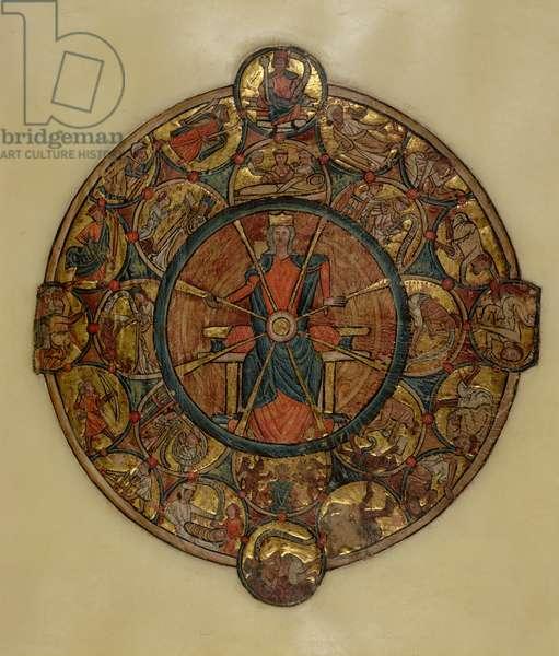 Ms 330.4 The Wheel of Fortune, c,1240 (vellum)