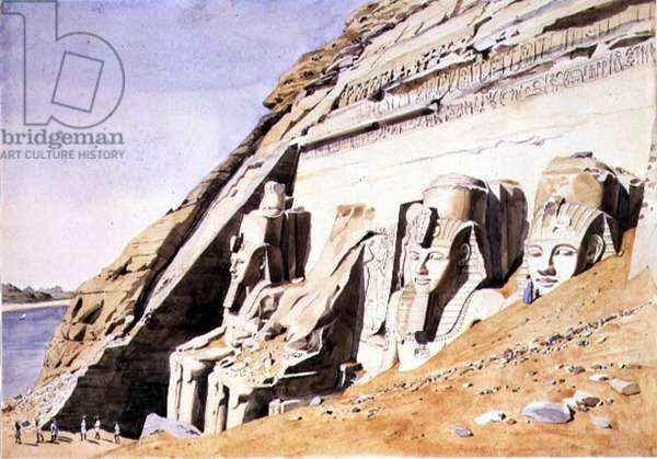 No.1081 Front of the Great Temple at Abu Simbel, c.1845 (w/c)