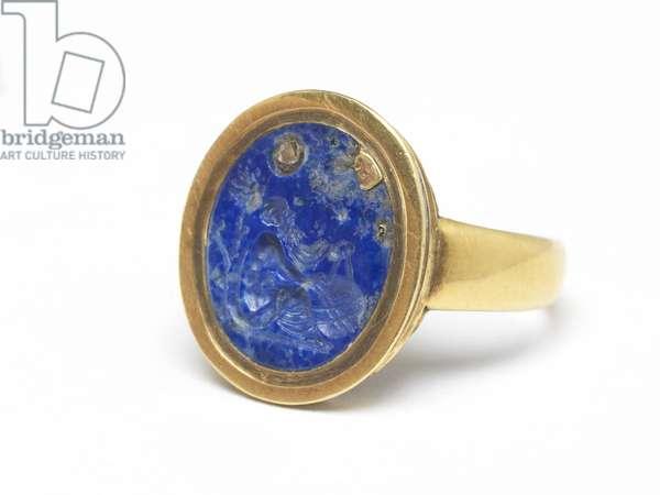 Ring (lapiz lazuli & gold)