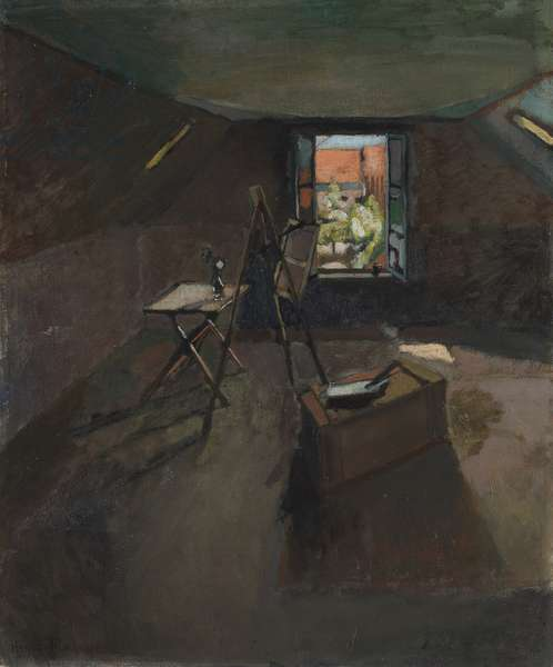 Studio under the Eaves, c.1903 (oil on canvas)