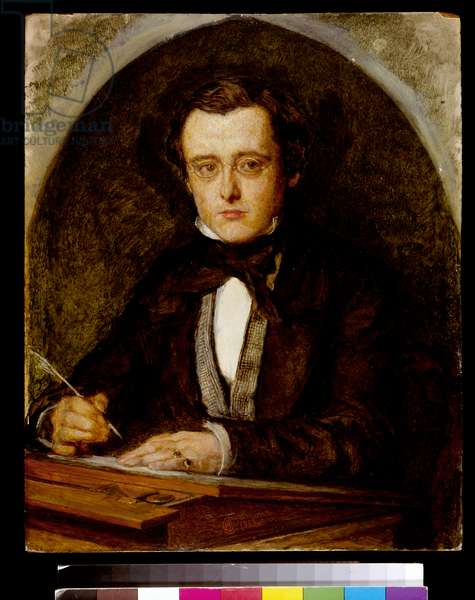Portrait of Wilkie Collins (1824-89) 1853 (oil on canvas)