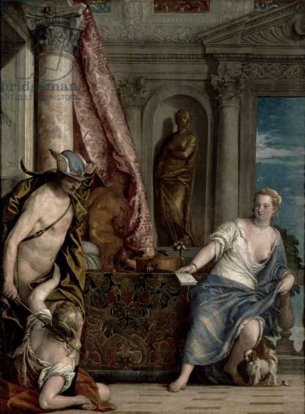 Hermes, Herse and Aglauros, c.1576-84 (oil on canvas)