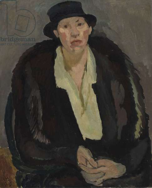 Portrait of Mrs M., 1919 (oil on canvas)