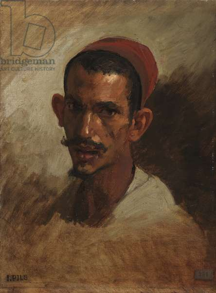 Study for the head of a young Arab, c.1860-62 (oil on canvas)
