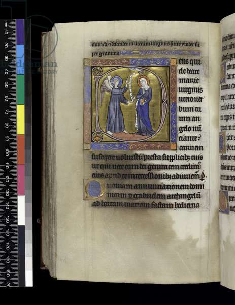 MS 300 f.274v, Collects, sermons and lessons for the Annunciation, from the Psalter and Hours of Isabella of France, Paris, c.1265-70 (pen & ink and tempera on parchment)