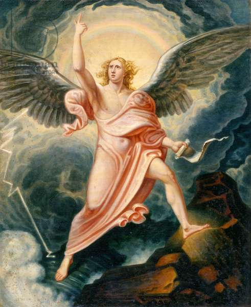 The Angel Proclaiming the End of Time (oil on canvas)