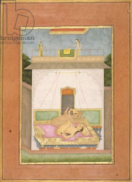 The private pleasure of Prince Murad, son of Shah Jahan by Govardhan, Bikaner, Rajasthan, Rajput School, c.1678-98 (gouache on paper)