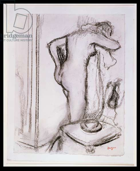 PD.33-1978 Woman at her Toilet, c.1890 (charcoal on paper)