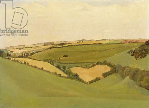 Dorset Downs, 1919 (oil on canvas)