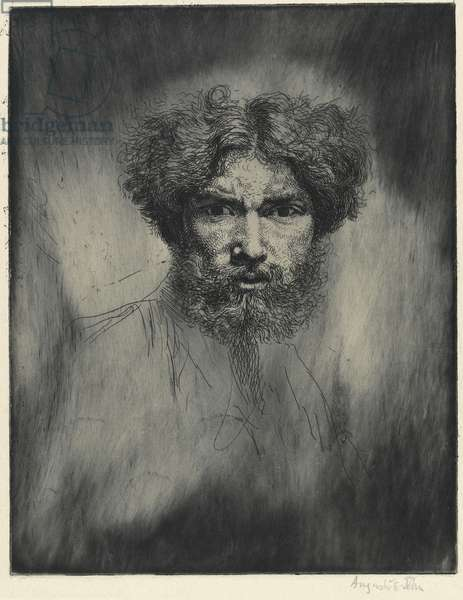 Portrait of the artist: 'Tête Farouche', 1906 (etching)