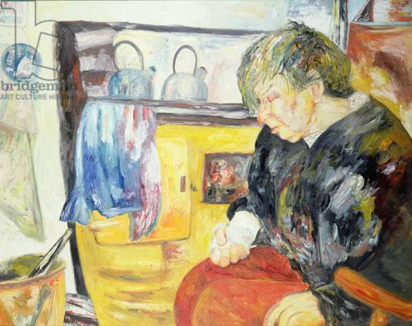 Sarah with Aga, 1990 (oil on canvas)