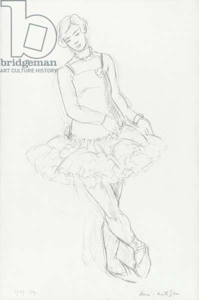 Dancer, 1929 (graphite on paper)