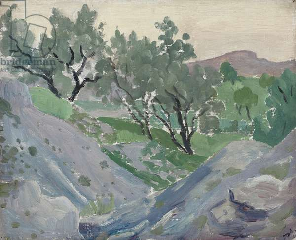 Olives in Spain, 1922-25 (oil on canvas)