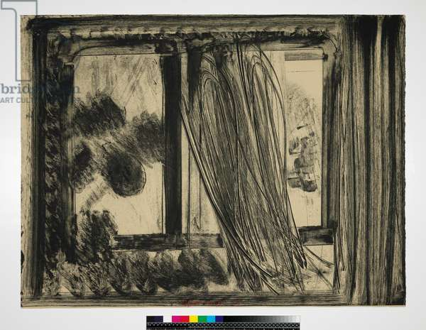 Late Afternoon in the Museum of Modern Art, 1979 (soft-ground etching on buff bFK rives paper)