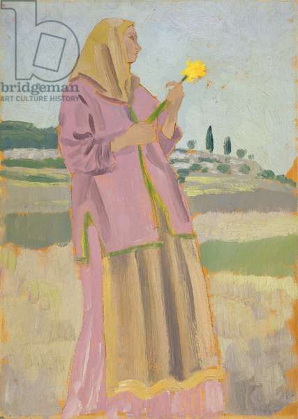 Woman with a Daffodil, 1910 (oil on panel)
