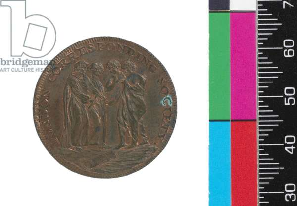Halfpenny, obverse, 1795 (copper)