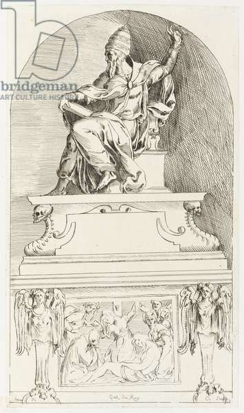 Study for the tomb of Pope Clement VII, after Baccio (Bartolommeo) Bandinelli (print)