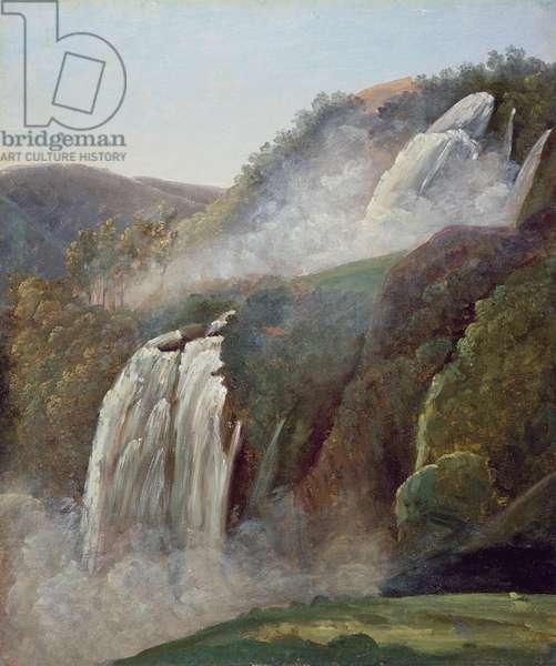 The Falls at Terni (oil on paper)