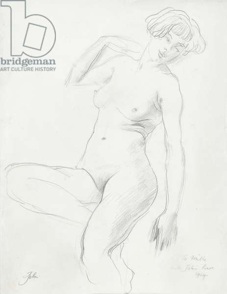 Female nude (graphite on paper)
