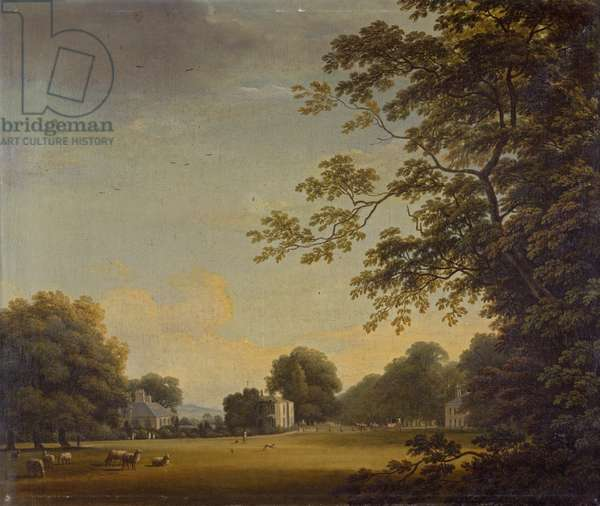 View in Mount Merrion Park (oil on canvas)