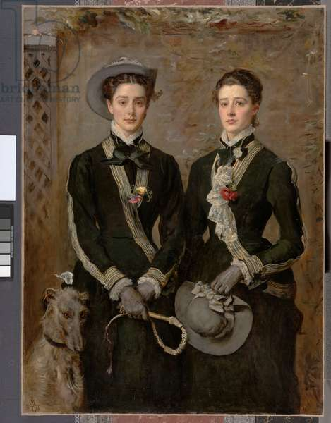 The Twins, Portrait of Kate Edith and Grace Maud Hoare, 1876 (oil on canvas)