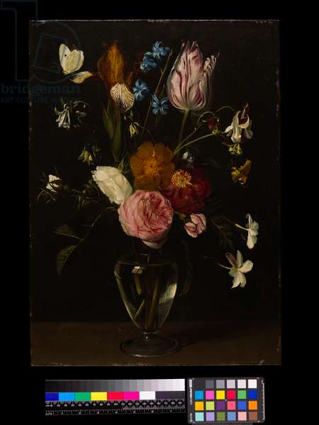A Vase of Flowers (oil on copper)