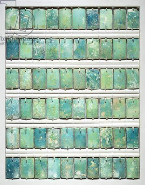 Tiles, from the step pyramid of Djoser, Saqqara, Old Kingdom, 2667-2648 BC (faience)