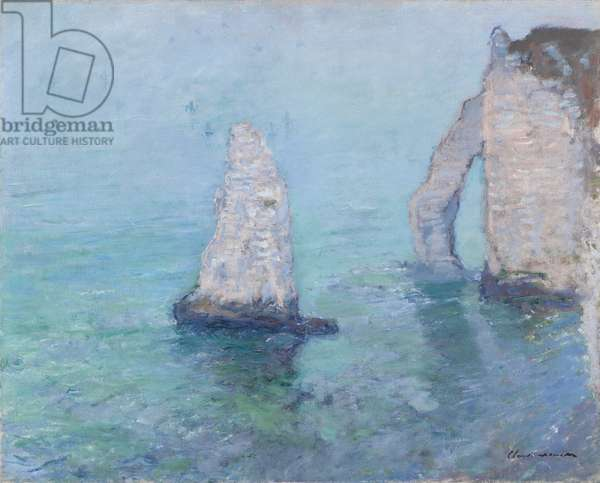The Rock Needle and the Porte d'Aval, c.1885 (oil on canvas)