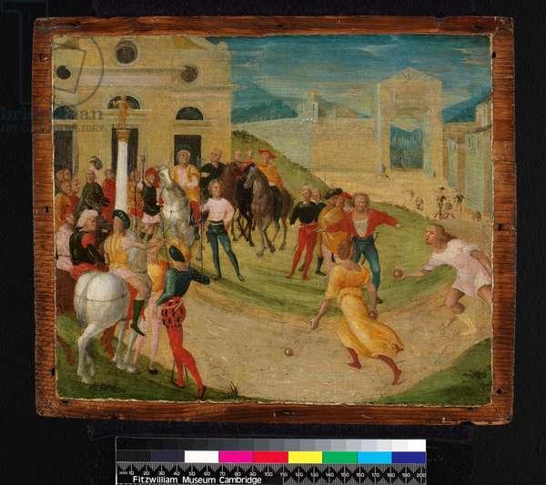 Atalanta's race, before 1555 (egg tempera on panel)